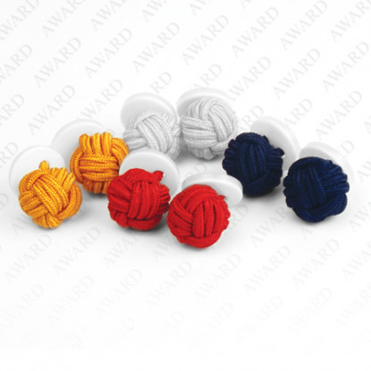 National Service Button Knot Cufflinks