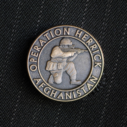 Operation Herrick Bronze Finish Lapel Badge