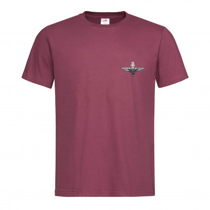 EMBROIDERED BURGUNDY T-SHIRT