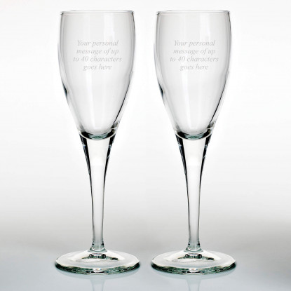 Set of Two Military Flute Glasses