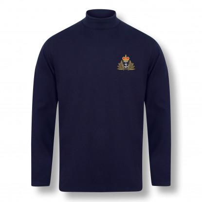 Personalised Henbury Navy Roll Neck Top