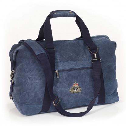 Personalised Vintage Canvas Weekender Bag