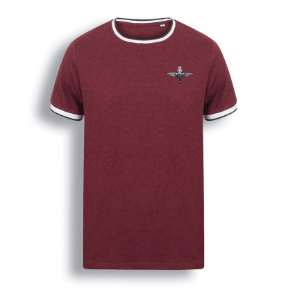 Contrast T-Shirt Burgundy/White