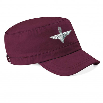 Printed Army Cap Burgundy