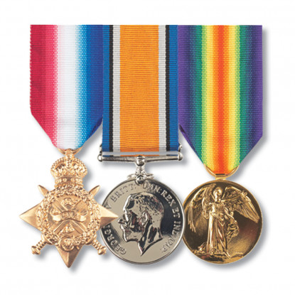 Set of 3 Pip Squeak & Wilfred Miniature Mounted Medals