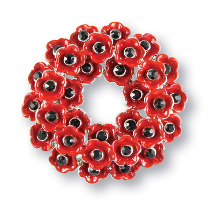 Poppy Wreath Brooch