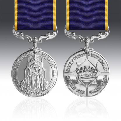 Queen Elizabeth II 65th Anniversary Coronation Full Size Medal