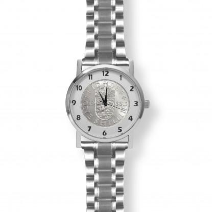 Queens Shilling Watch Silver Bracelet