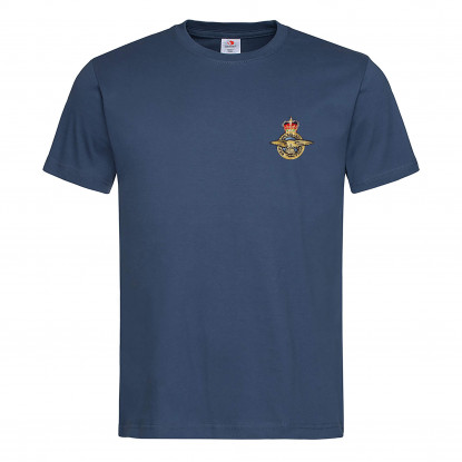EMBROIDERED NAVY BLUE T-SHIRT