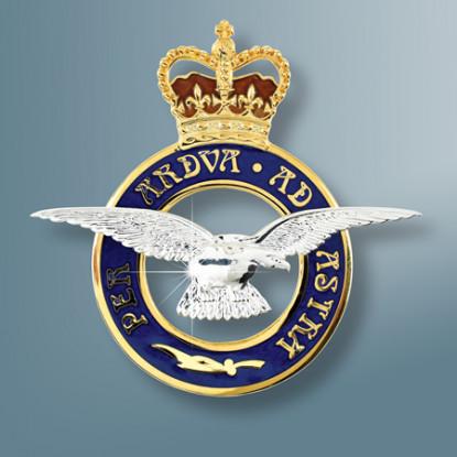 RAF Badge Sterling Silver Sweetheart Brooch