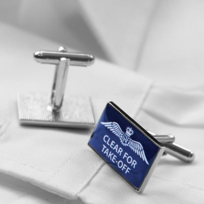 RAF Clear for Take-Off Cufflinks