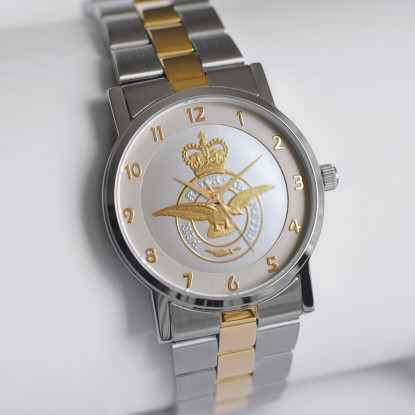 MILITARY WATCH TWO TONE STRAP BI-TONED EMBLEM