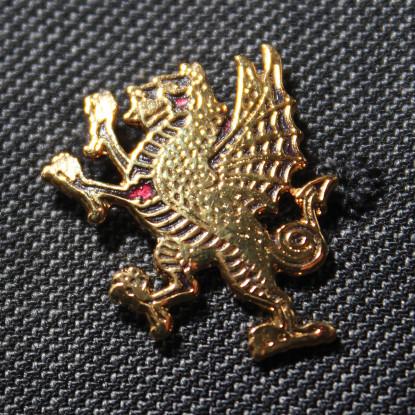 Rampant Welsh Dragon Lapel Badge