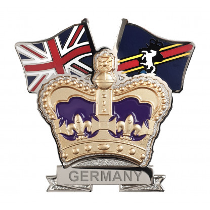 Royal Electrical and Mechanical Engineers Crown & Country Lapel Badge