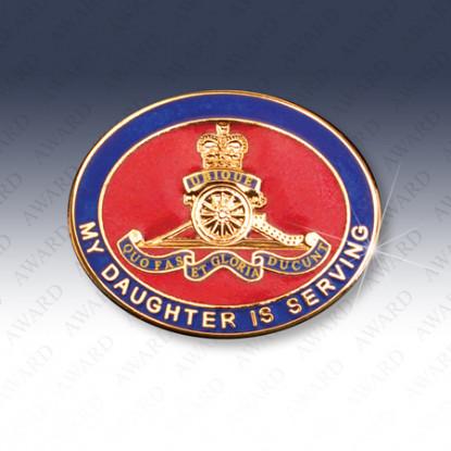 Royal Artillery Daughter Lapel Badge