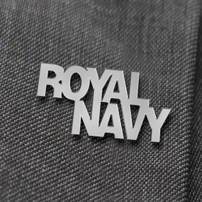Royal Navy Nickel Lapel Badge