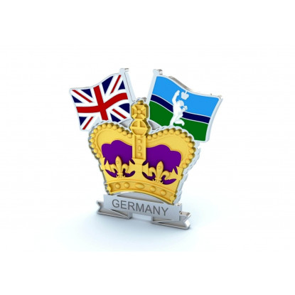 Crown & Country Lapel Badge Royal Signals