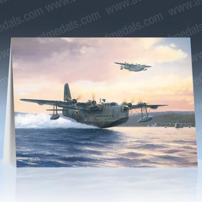 Sunderlands of 201 Squadron Greeting Card