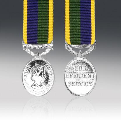 T & AVR Efficiency Miniature Medal EIIR