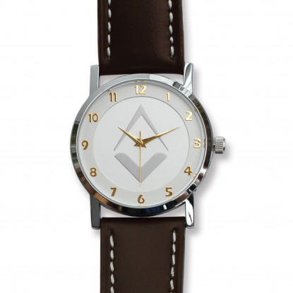 Tercentenary Watch With Silver Dial & Brown Leather Strap