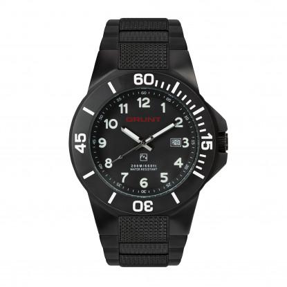The Tough Watch, Black Dial, Case & Bezel, Black Stainless Bracelet