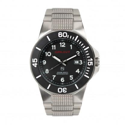 The Tough Watch, Black Dial, Stainless case, Black Bezel, Stainless Bracelet