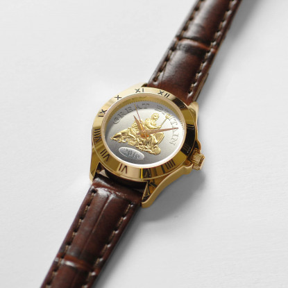 Great Britain Watch Ladies Brown Leather Strap