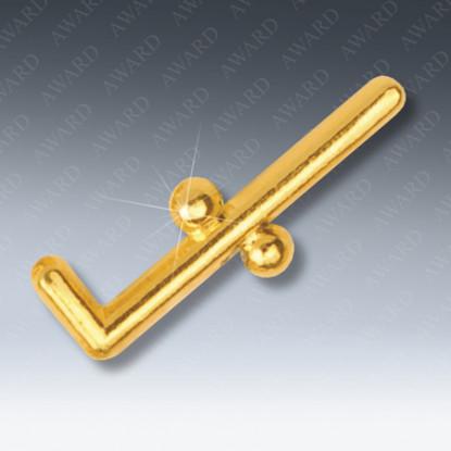 Two Balls & Cane Masonic Lapel Pin
