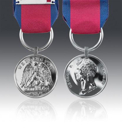Miniature Waterloo Medal