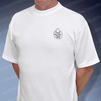 White Military T-Shirt