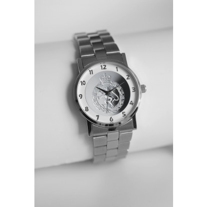 MILITARY WATCH SILVER STRAP   SILVER EMBLEM WOMENS ROYAL ARMY CORPS