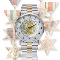 1945 Victory Watch With 1945 B-toned Florin & Two-Toned Bracelet In Military Style Watch