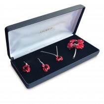 Poppy Flower Jewellery Set