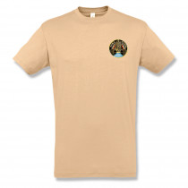 EMBROIDERED SAND T-SHIRT
