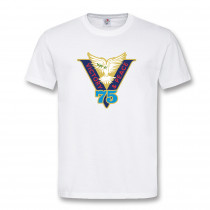 VICTORY & PEACE 75 WHITE T-SHIRT