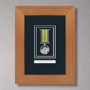 Light Oak Medal Frame for 1 Medal