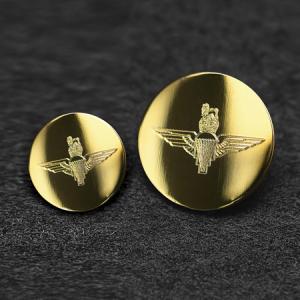 Cuff Size Military Brass Engraved Blazer Button