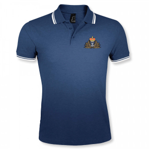 Double Tipped Polo Shirt Navy/White