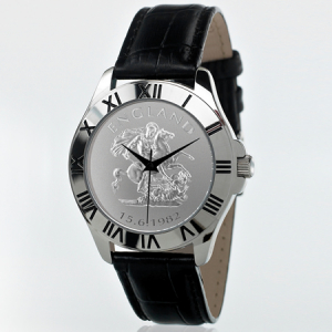 England Black Leather Patriot Watch