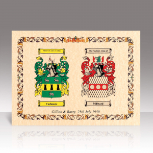 Double Family Crest Scroll Print