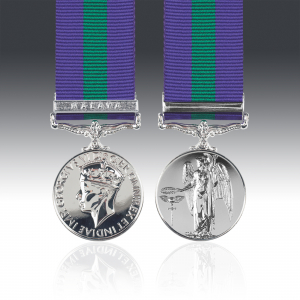 GSM Miniature 1918-62 G.VI.R with Malaya Clasp