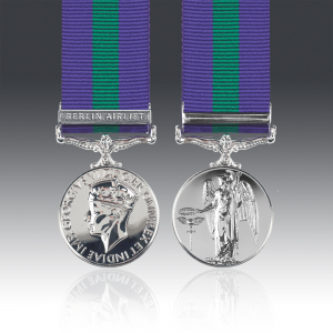 GSM Miniature 1918-62 G.VI.R with Berlin Airlift Clasp