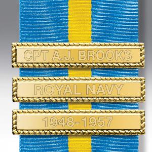 Gilt Engraved Medal Clasps