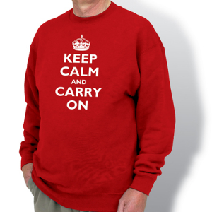 Keep Calm & Carry On Sweatshirt (Size : S)