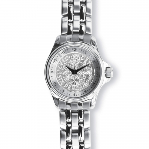 Lifestyle Coinwatch with Sixpence, Silver Case, Silver Bracelet