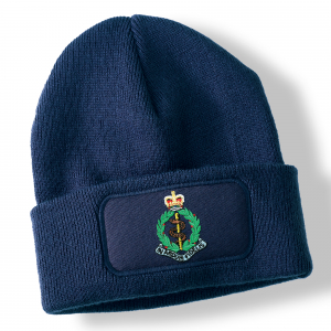 Royal Army Medical Corps Navy Blue Acrylic Beanie Hat