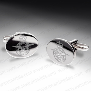 Nickel Plated Military Cufflinks