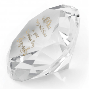 Clear Optical Diamond Paperweight