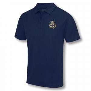 Embroidered Performance Polo Shirt Navy