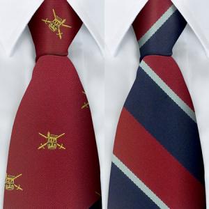 Polyester Military Stripe Tie